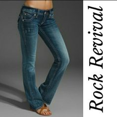 Rock Revival Stephanie Jeans Rock Revival Stephanie size 28 boot cut jeans. Good condition. Rock Revival Jeans Boot Cut