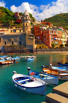 Cinque Terre, Vernazza: a hike between villages on cliffs above raging seas between vines and olive trees.