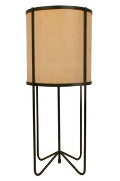 Luther Conover; Enameled Iron and Fiberglass Table Lamp, 1950s.