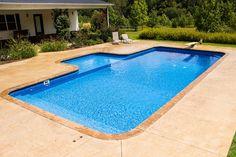 Backyard Pool Landscaping, Backyard Pool Designs, Swimming Pools Backyard, Pool Decks, Backyard Paradise, Backyard Retreat, Walk In Pool, Pool House Plans, Pool Builders