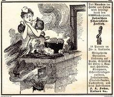 Werbung - Original-Werbung/ Anzeige 1901 - JOHN'S AUFSATZ FÜR SCHORNSTEINE (CARTOON) / JOHN - ERFURT - ca. 90 x 75 mm