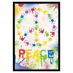 Trends International Peace Sign Hands Poster - FR6129BLK22X34