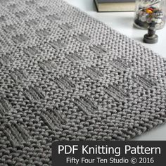 KNITTING PATTERN / Westport Blanket / Throw por FiftyFourTenStudio