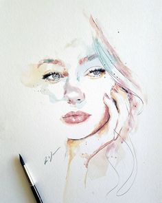 """Explore our web site for more information on """"abstract art paintings techniques"""". It is actually a superb location to learn more. Art Inspo, Kunst Inspo, Inspiration Art, Watercolor Art Face, Watercolor Portraits, Watercolor Paintings, Art Paintings, Watercolor Trees, Indian Paintings"""