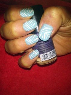 cebra blanco celeste Nail Art, Nails, Painting, Beauty, White People, Fotografia, Finger Nails, Ongles, Painting Art