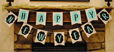 Happy New Year - banner FREE printable (crafts) Free Printable Banner, Printable Crafts, Free Printables, Christmas Morning, Christmas And New Year, Happy New Year Banner, New Year's Crafts, Free News, New Year Celebration