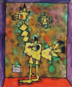 Rooster is a painting created by Jean Phillipe Dallaire in Find out more at Mayberry Fine Art. Ecole Art, Canadian Art, Historical Art, Arts Ed, Space Gallery, Coq, Art Auction, Oeuvre D'art, Traditional Art