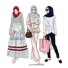 Fashion art illustration models 52 Ideas for 2019 Muslim Fashion, Modest Fashion, Hijab Fashion, Fashion Art, Fashion Models, Girl Fashion, Fashion Show, Friends Fashion, Fashion Illustration Sketches