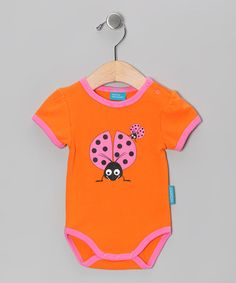 Take a look at this Orange Selma the Ladybug Bodysuit - Infant by Eggkids on #zulily today!