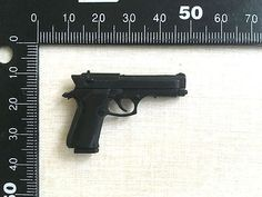 "1/6 Scale Beretta M92F Hand Short Gun (All Black) For 12"" Action Figure"