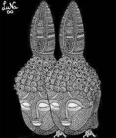 meditation, las dos partes de Todo... by Luna by LuNa Portnoi.Marcovsky, via Flickr http://www.lunaportnoi.com.ar/