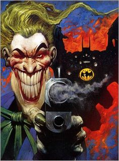 The Joker and Batman by Carl Critchlow