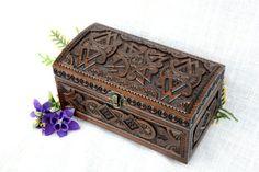 Jewelry box Wooden box Wedding ring box Wood box by HappyFlying