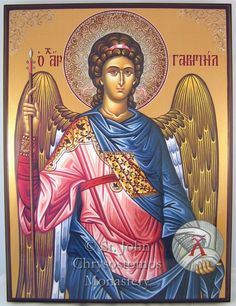 Archangel Raphael, Archangel Gabriel, Religious Icons, Religious Art, All Archangels, Casual Art, Byzantine Icons, Catholic Saints, Orthodox Icons