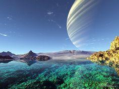 planetary landscape | Hunt for Alien Earths: Extrasolar Planet Art Gallery
