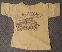 1940's WWII US Army Armored Command - Fort Knox, KY Child's T-shirt
