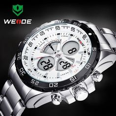 Weide Men's Luxury Quartz Sport Watch Analog Digital Analog Army Military Wrist Watches http://www.thesterlingsilver.com/product/guess-w0040g3-rigor-wristwatch-mens-leather-band-colour-chocolate/
