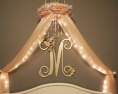 Nursery Canopy-Crib Canopy-Crown Baby Canopy-Baby Crib Mobile-Bed Canopy-Canopy With Lights-Nursery Decorations-Newborn Photo Props-Canopies by DesignsByANM on Etsy Baby Canopy, Kids Canopy, Canopy Curtains, Canopy Bedroom, Canopy Tent, Girls Bedroom, Fabric Canopy, Bedrooms, Tulle Canopy