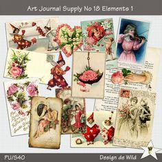 ART Journal Supplies No 18 Elements 1