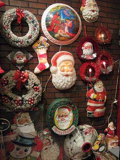 A vintage plastic Christmas