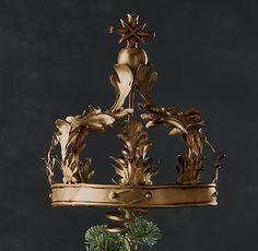 Crown Tree Topper - Brass  $49 Restoration Hardware