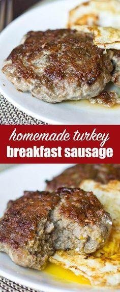 Homemade Turkey Sausage: Use seasonings in your cupboard to make lean breakfast sausages out of ground turkey!     via @tastesoflizzyt