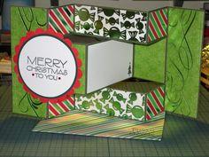 Tri-shutter Christmas card