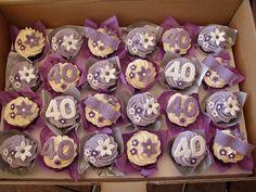 New cupcakes birthday women 20 Ideas 40th Birthday Cake For Women, Birthday Cupcakes For Women, 40th Bday Ideas, Moms 50th Birthday, 70th Birthday Cake, 40th Cake, 40th Birthday Parties, Birthday Woman, Birthday Ideas