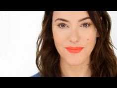 Lisa Eldridge Make Up   Video   Wear a Power Pout and Smile - Makeup Forever Aqua Lip orange red