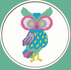 Wise Owl PDF Downloadable Printable Cross by CrossStitchDiver