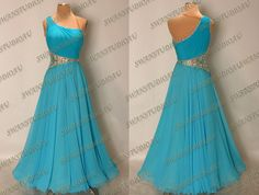 A BRAND NEW READY TO WEAR BLUE PARADISE GEORGETTE BALLROOM DRESS SIZE:6 | eBay