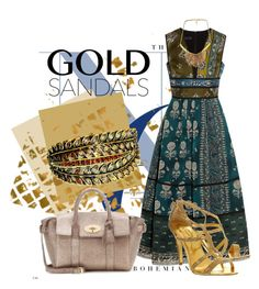 """""""#goldsandals"""" by bianca-2904 ❤ liked on Polyvore featuring Burberry, Ted Baker and goldsandals"""