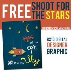 Shoot for the Stars FREE 8x10 Printable