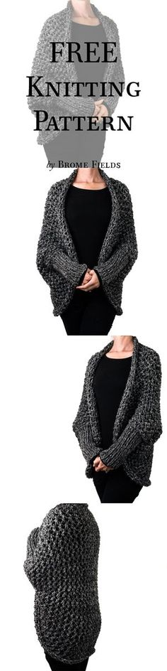 FREE Knitting Pattern! Chunky Lace Cocoon Knitting Pattern.