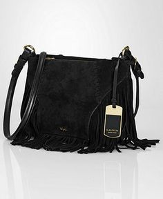 Lauren Ralph Lauren Faulk Suede Crossbody Handbags   Accessories - Macy s 912561cfcfe77