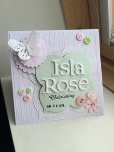 Made to order: Personalized Handmade Greeting Cards Christening, first communion
