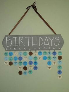 This is cool. Keeping track of birthdays in style.