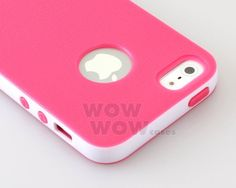 Pink and White Hybrid TPU Bumper Matte Rubber Soft Cover Case for iPhone 5 | eBay
