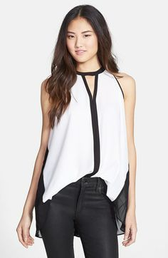 Kenneth Cole New York 'Maude' Colorblock Sleeveless Keyhole Blouse available at #Nordstrom