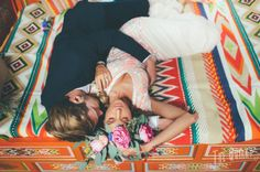 Folk wedding, boho style, yurt, aztec, mexican, hungarian, colorful, flower crown, orange wedding - By Beatrice, The Quirky - www.the-quirky.com