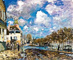 15. Sisley. Inundación en Port-Marly. Representa la opción más pura y ortodoxa del impresionismo.