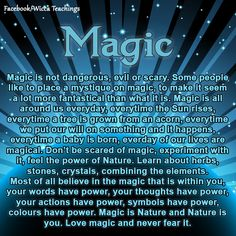 Check out my Facebook page. Wicca Teachings.