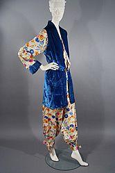 1920s Silk & Velvet Beach Pajamas