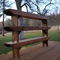 Vintage Style Hand Crafted Wood Benches