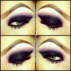 Mylar, Carbon, and Vivid Pink MAC Colors and 34 lashes - prettyyy