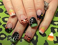 The Bride by dcgroves from Nail Art Gallery Holiday Nail Art, Fall Nail Art, Nail Art Diy, Fall Nails, Halloween Nail Designs, Halloween Nail Art, Cute Nail Designs, Nails Now, Get Nails