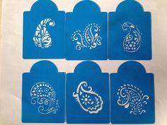 Paisley mehndi henna cookie stencils cupcake cake decoration #stenciland