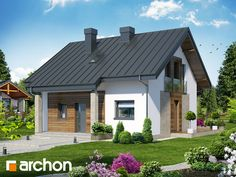 Dom - Miniaturka (NT) Small House Exteriors, House Extensions, Prefab Homes, Facade House, Pool Houses, Modern House Design, Home Fashion, Home Projects, House Plans