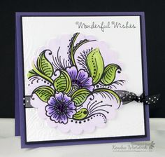project by Kendra Wietstock using blendable pencils only and a @CraftersCompanion stamp