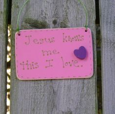 CLEARANCE/ CLOSE OUT 50 Off Jesus knows me by ifrogcrafts on Etsy, $3.25